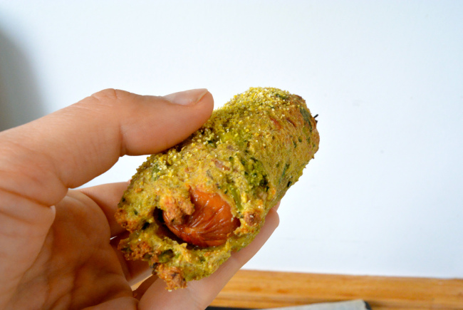 broccolipølsehorn