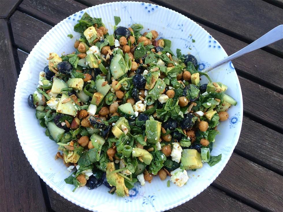 salat med vindruer