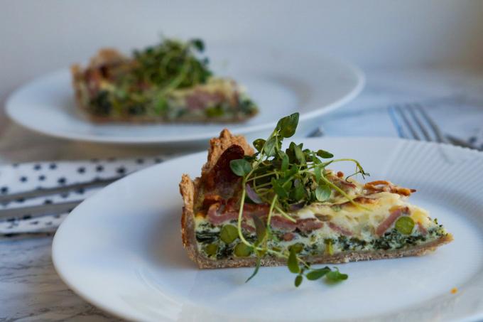 Grøntsagstærte Med Bacon Julie Bruun Den Bedste Grønne Tærte