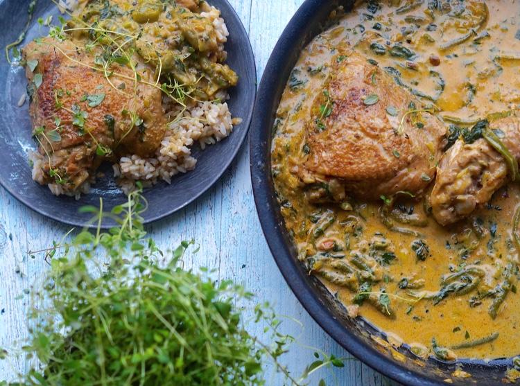 kylling og grøntsager