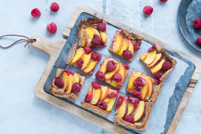 Glutenfri hindbærtærte