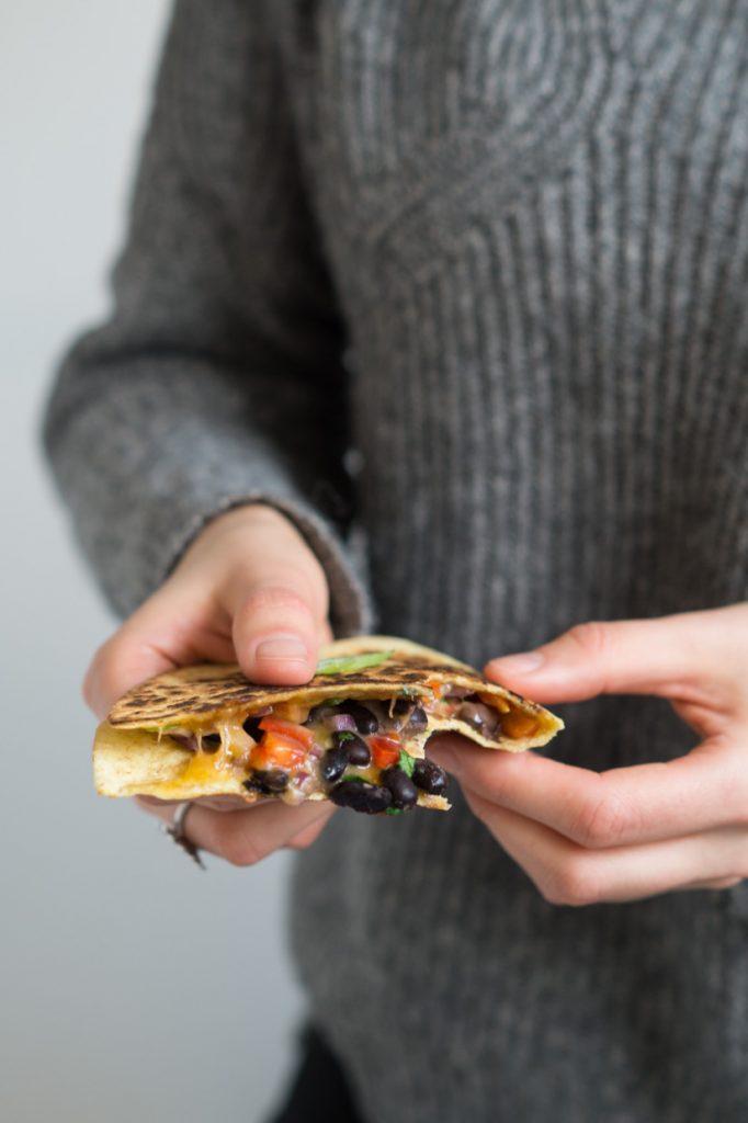quasadillas med bønnefyld