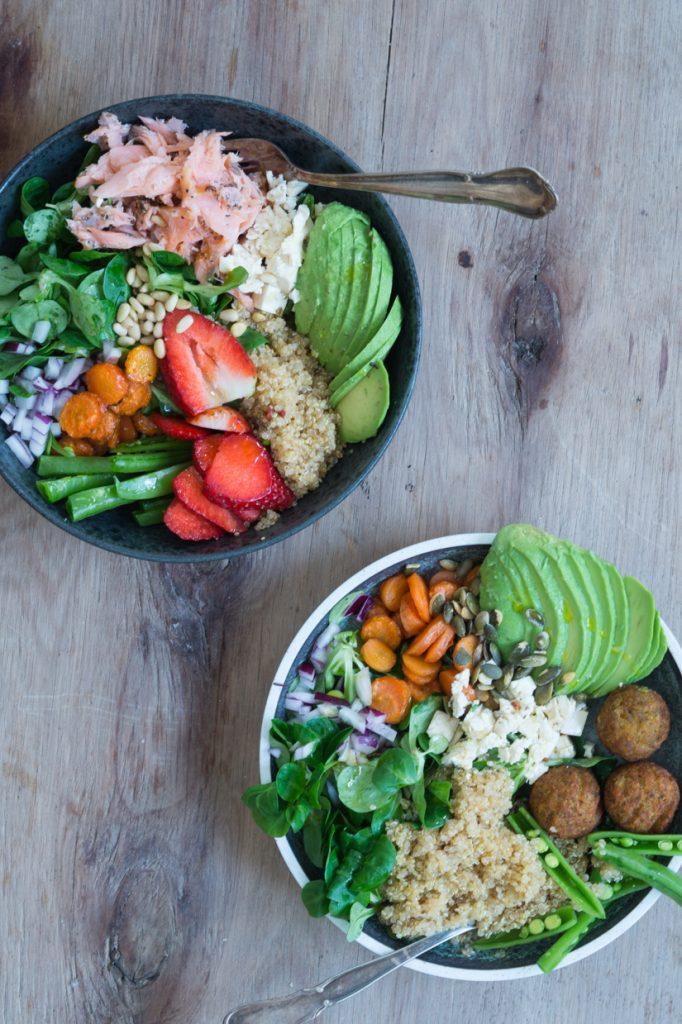 salatbowls med falafler