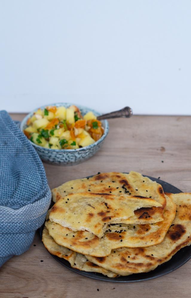 Naanbrød med parmesan