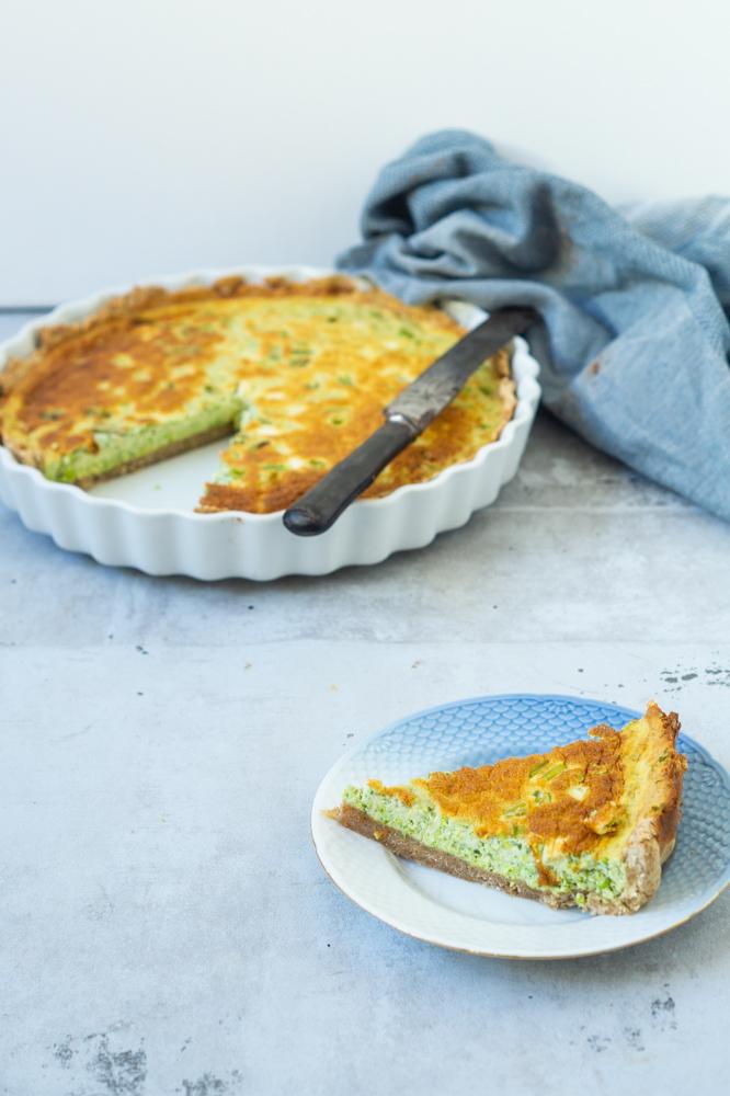 grøn tærte
