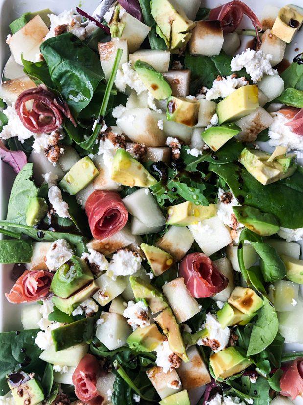 salat med serranoskinke