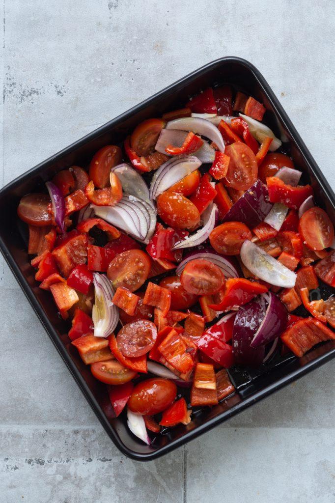 bagte grøntsager