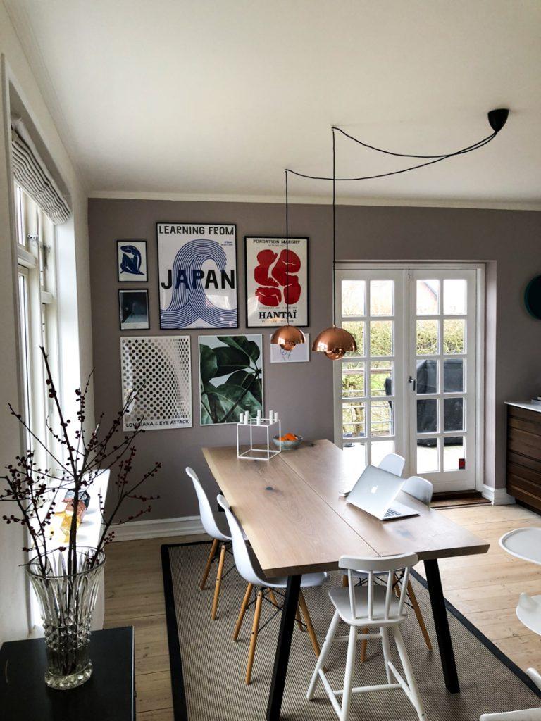 Billedvaeg Og Farvekode I Stuen Julie Bruun Inspiration Til Billedvaeg