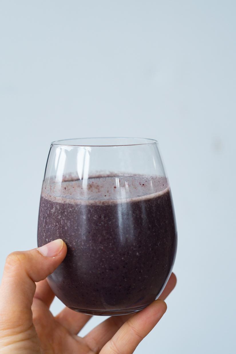 sund blåbærsmoothie