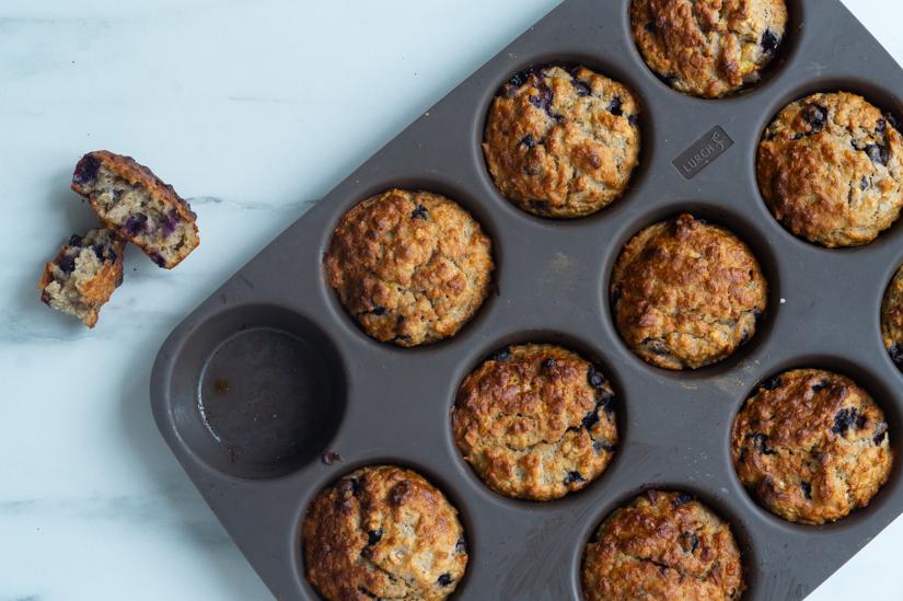 Børnevenlige blåbær muffins