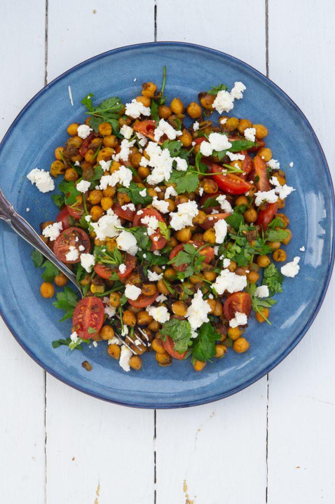 lun indisk kikærtesalat