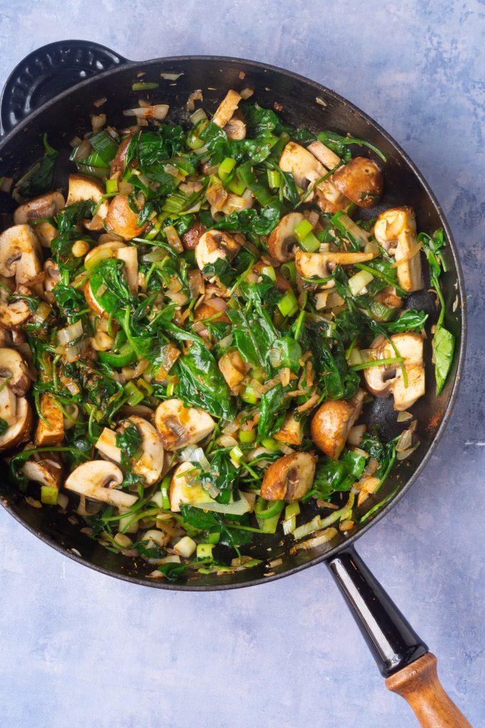 grøntsager til koteletter i fad