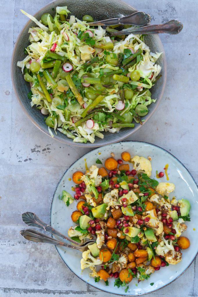 salat med bagte gulerødder