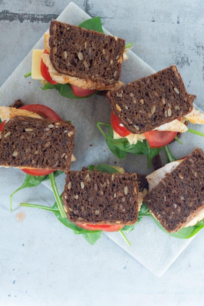 rugbrødssandwich