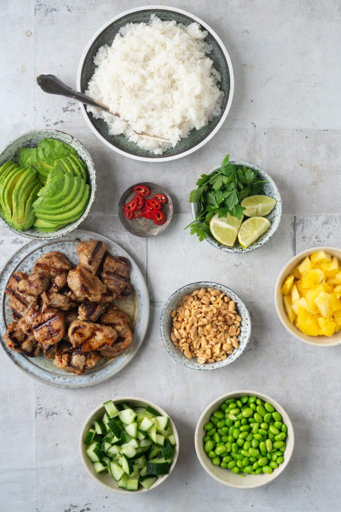 asiatisk salatbowl