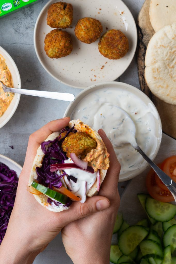 Pita med falafler