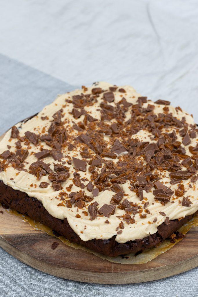 chokoladekage med kaffefrosting