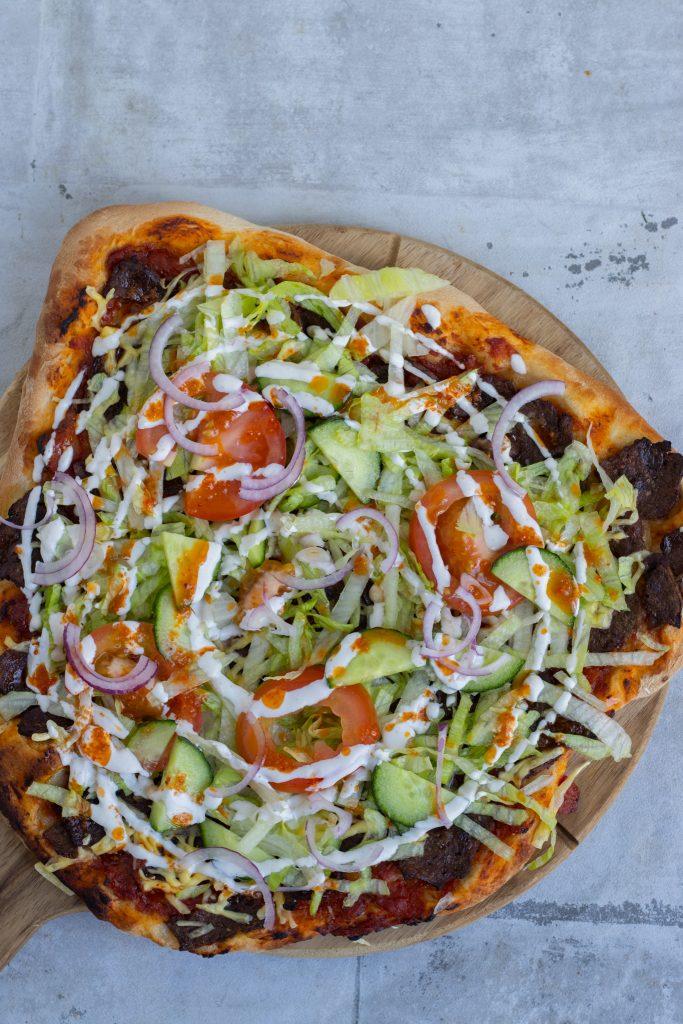 pizza med kebab