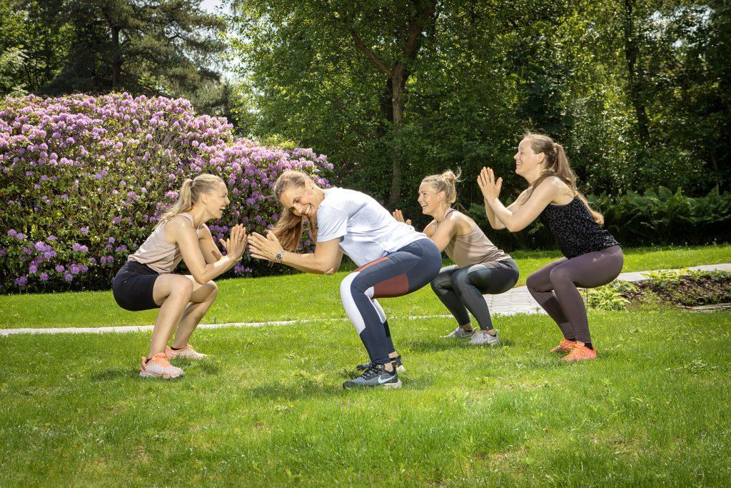 træning med veninder